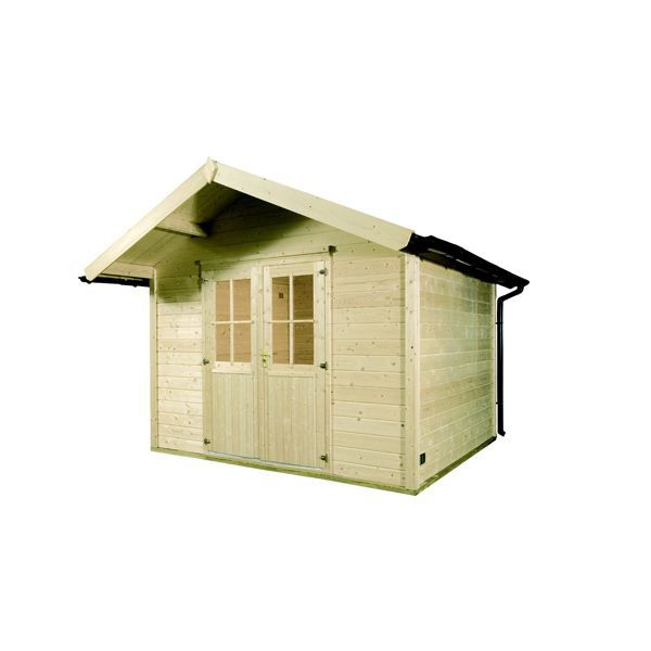 Abri de jardin bois hirondelle 8 4m 28mm achat vente abri jardin chalet abri de jardin en for Abri de jardin en bois la redoute