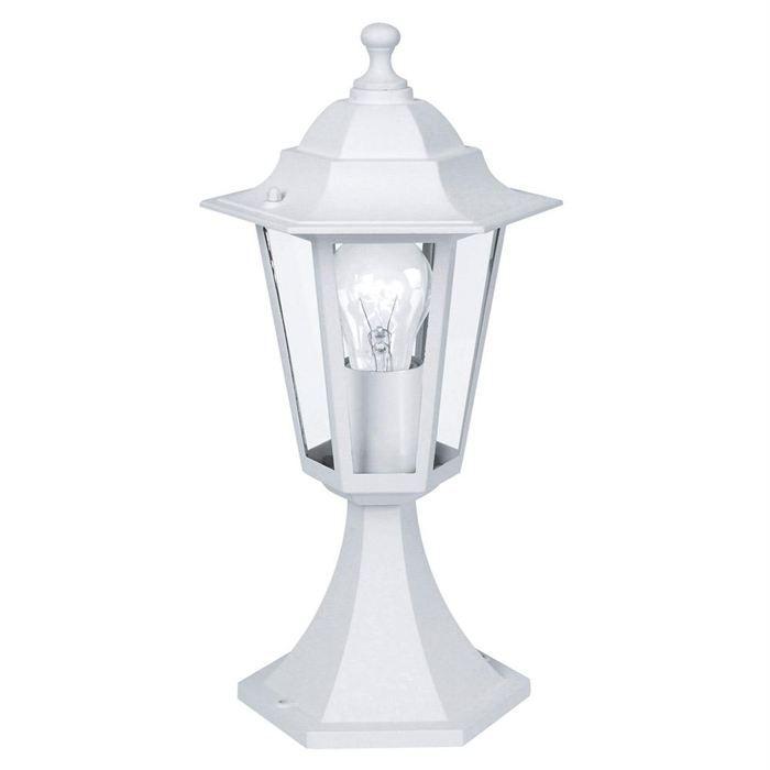 Borne laterna borne d 39 ext rieur blanc s achat vente for Lampe exterieur blanche
