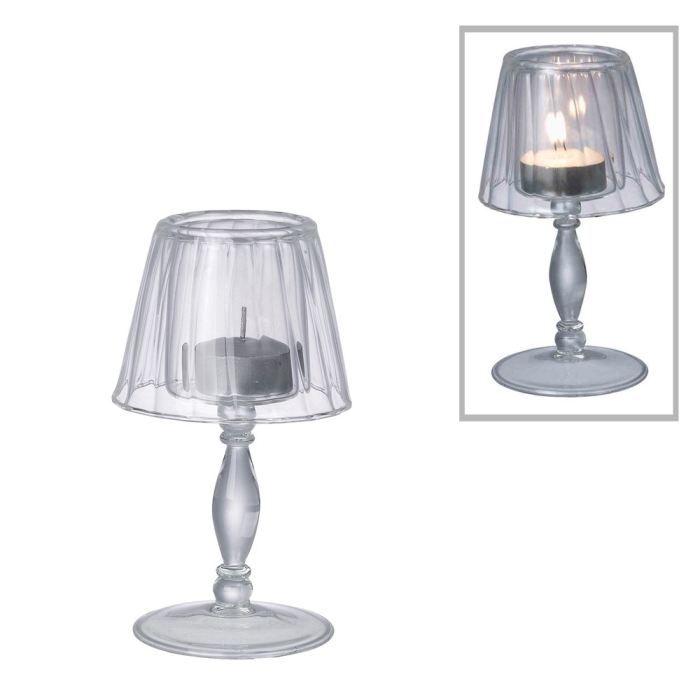 Photophore Lampe En Verre H 14cm Achat Vente Photophore Lanterne Cdiscount