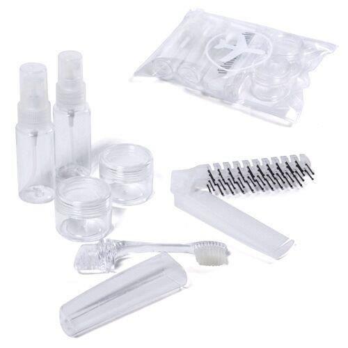 kit pour voyages en avion de 6 pi ces avec bro achat vente bouteille flacon kit pour. Black Bedroom Furniture Sets. Home Design Ideas