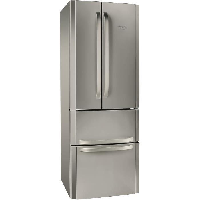 hotpoint e4daaxc r frig rateur multi portes 402l 292 110 froid ventil a l 70cm x h 195cm. Black Bedroom Furniture Sets. Home Design Ideas