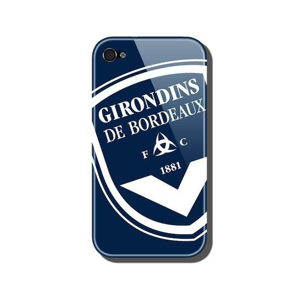 coque iphone 4 arri re bleue glossy fc girondins achat vente coque iphone 4 arri re bleue. Black Bedroom Furniture Sets. Home Design Ideas