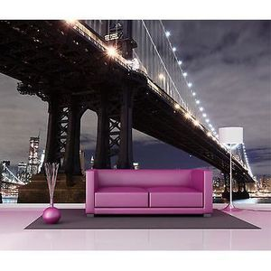 Deco murale papier peint new york achat vente deco for Decoration murale new york