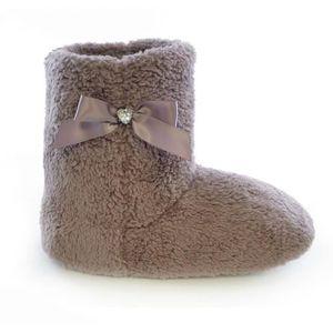bottes chaussons femme achat vente pas cher cdiscount. Black Bedroom Furniture Sets. Home Design Ideas