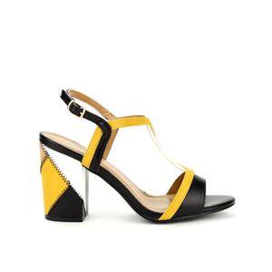 SANDALE - NU-PIEDS sandale - nu-pieds, Sandales Jaune Chaussures Femm