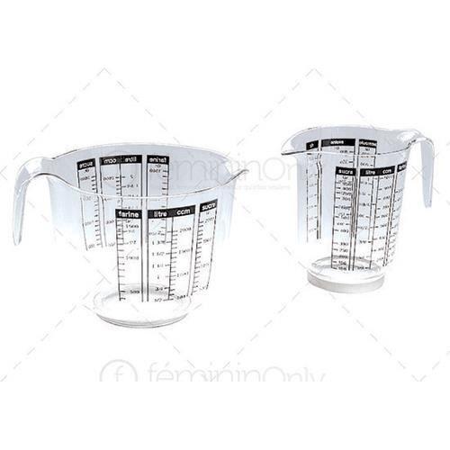 Pot gradue plastique 2 5 l 15 18 cuisine ustensiles for Ustensile de cuisine en plastique