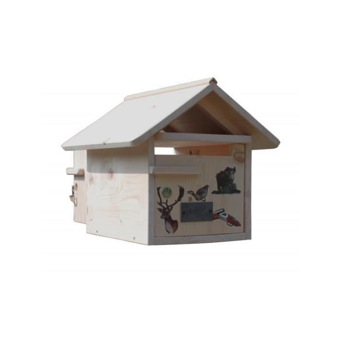 boite aux lettres bois st hubert 2 portes achat vente boite aux lettres cdiscount. Black Bedroom Furniture Sets. Home Design Ideas