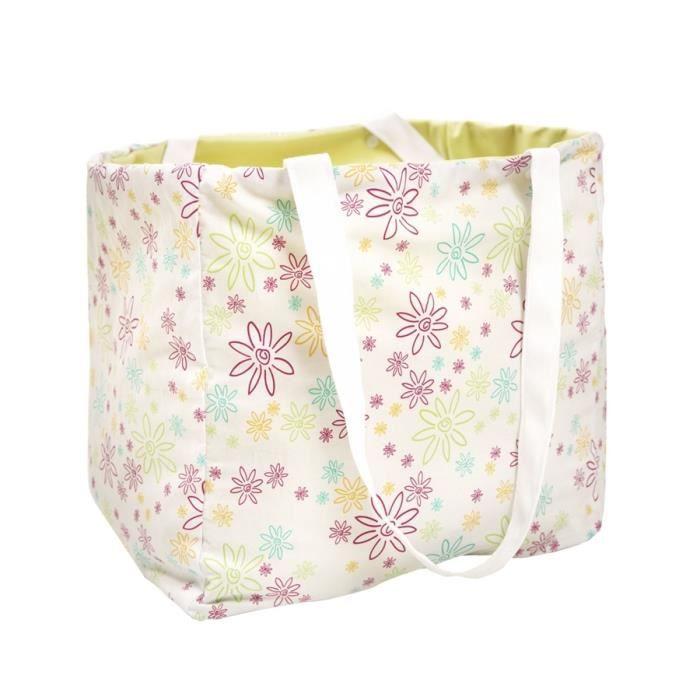sac fourre tout b b coton biologique imperm bleu achat vente sac langer. Black Bedroom Furniture Sets. Home Design Ideas