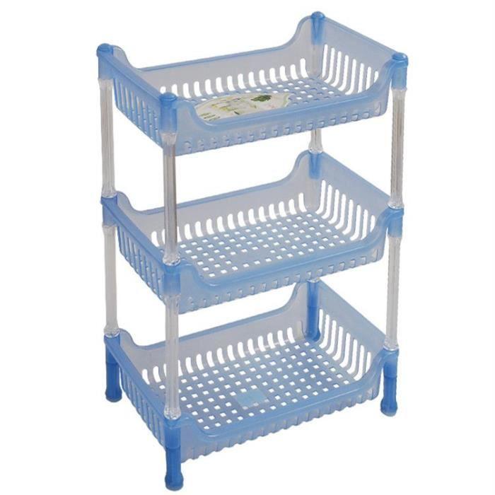 meuble de rangement trois tag res carr porte accessoire pour salle de bain bleu achat. Black Bedroom Furniture Sets. Home Design Ideas