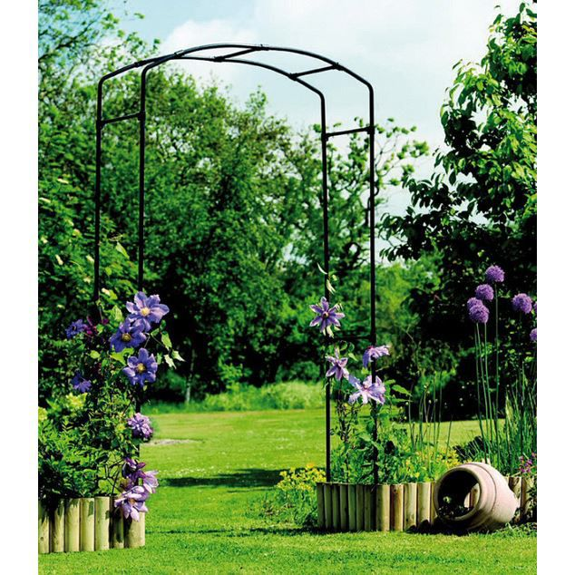arche de jardin gallic arch 2 x 1 2 m achat vente arche arche de jardin gallic arch cdiscount. Black Bedroom Furniture Sets. Home Design Ideas
