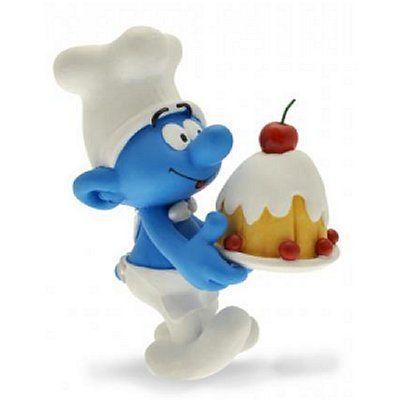 Schtroumpf cuisinier g teau achat vente figurine for Cuisinier 94 photos