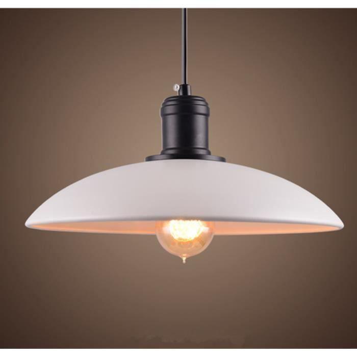 m tal retro suspensions luminaires vintage plafonnier lustre blanc suspension lumiere lampe e27. Black Bedroom Furniture Sets. Home Design Ideas