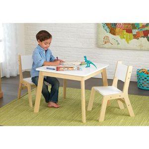 Table et chaise en bois enfant achat vente jeux et jouets pas chers Chaise pour table en bois