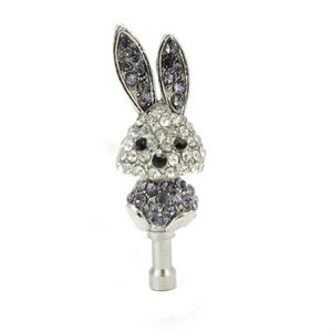 Bijoux de téléphone Prise Jack 3.5 mm Strass Bijoux Bouchon Anti Pouss