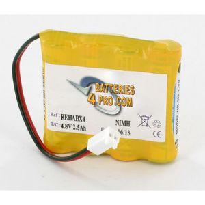 PILES Batterie 4.8V 2.5Ah pour CEFAR Activ X4 et Rehab X
