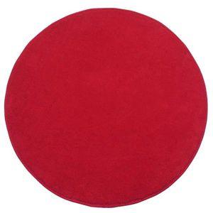 tapis tapis rond tuft coloris rouge 70 cm de diamt - Tapis Rond Color