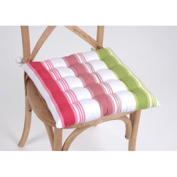 Galette de chaise achat vente coussin de chaise - Galette de chaise lavable ...