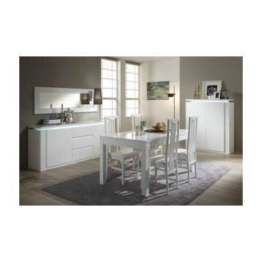 Salle manger blanche tratora blanc achat vente salle manger salle - Salle a manger cdiscount ...