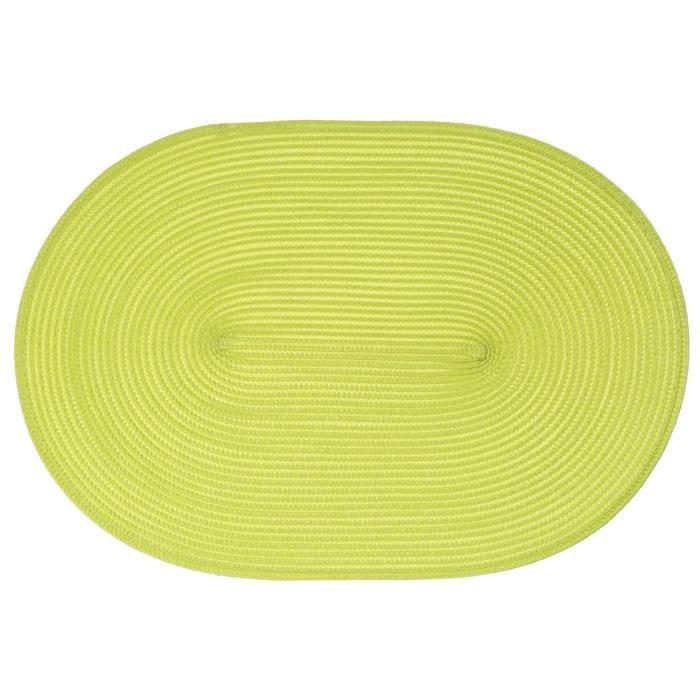 Set de table tress ovale vert achat vente set de - Set de table tresse ...
