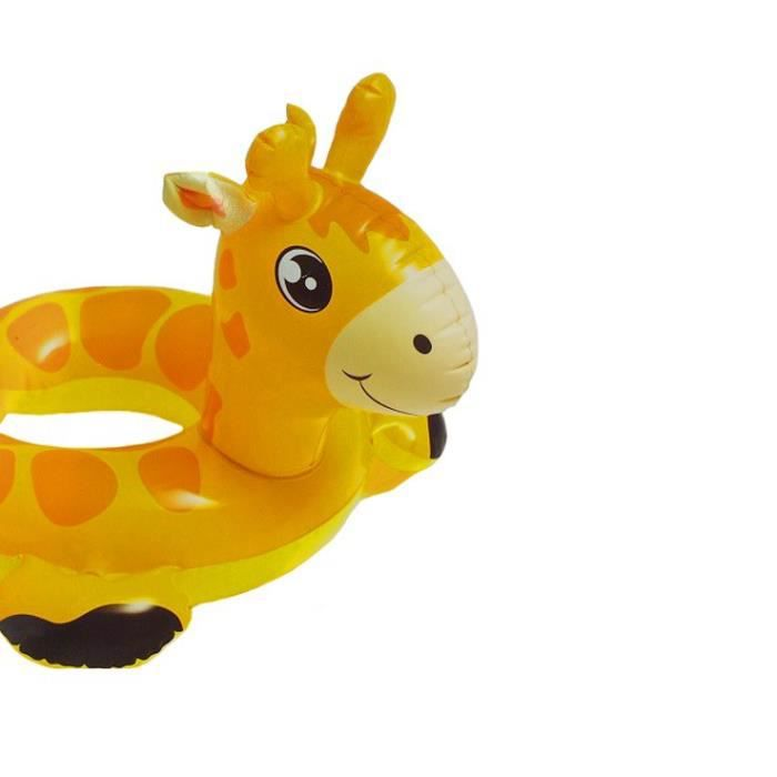 Bouee boue pneumatique animaux girafe enfant 65x64cm for Animaux gonflable piscine