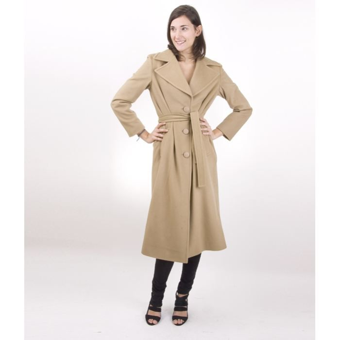 Manteau Cachemire Camel Victoria Achat / Vente manteau caban