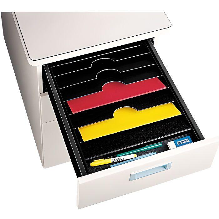 trieur 6 cases pour tiroir de bureau noir achat vente trieur parapheur caisson cdiscount. Black Bedroom Furniture Sets. Home Design Ideas