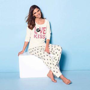 CHEMISE DE NUIT Pyjama tee-shirt et pantalon femme VENCA
