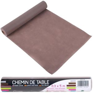 chemin de table chemin de table non tiss coloris taupe idal dco - Chemin De Table Color