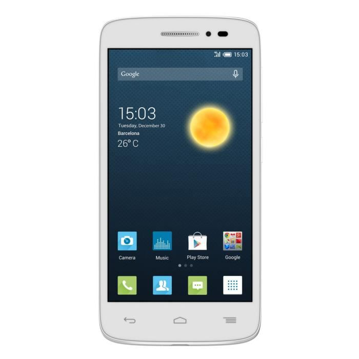alcatel one touch pop 2 4 5 blanc achat smartphone. Black Bedroom Furniture Sets. Home Design Ideas