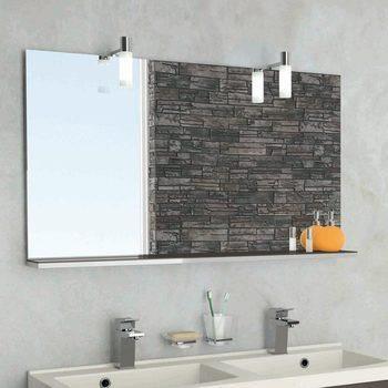 Miroir Tablette Salle De Bain Murano 105 Cm Bas Achat Vente Miroir Salle De Bain Cdiscount