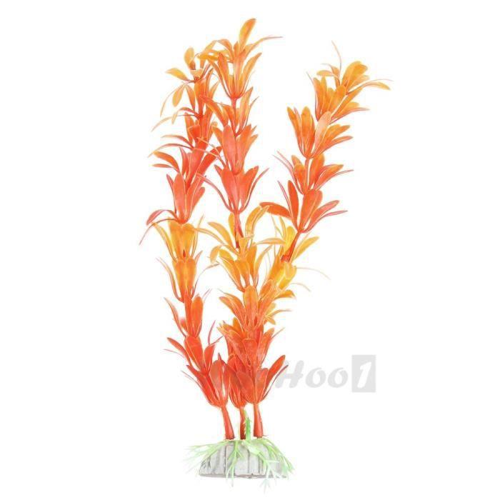 plante artificielle aquatique plastique orange d coration d co aquarium achat vente d co. Black Bedroom Furniture Sets. Home Design Ideas