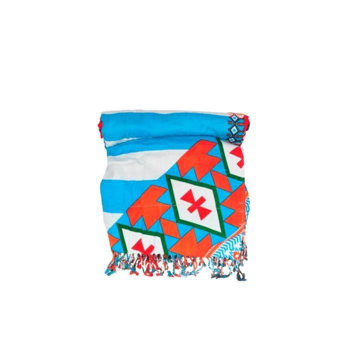 fouta de plage azteka bleu turquoise ray achat vente. Black Bedroom Furniture Sets. Home Design Ideas