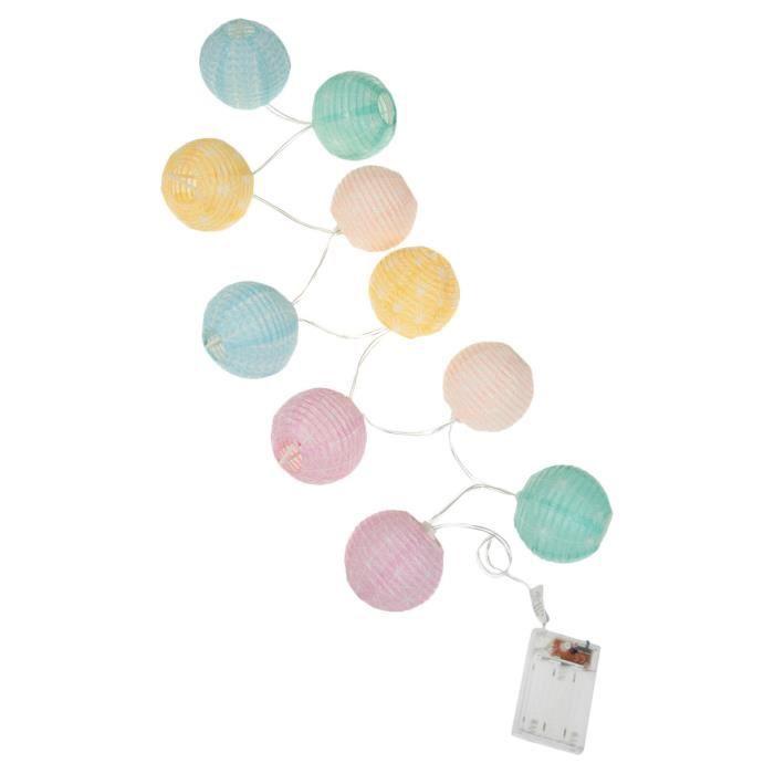 guirlande 10 boules led colores - Guirlande Boules Colores