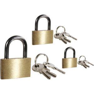 SERRURE - BARILLET Cadenas avec 3 clés 15-20-25mm