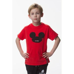 MAILLOT DE RUGBY Tshirt rugby division street art red kid