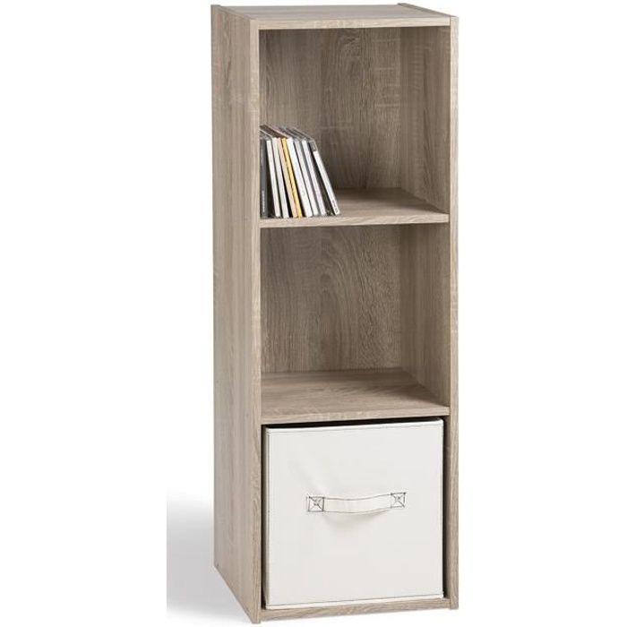 Compo meuble de rangement vertical coloris ch ne l 31 cm - Meuble rangement cdiscount ...
