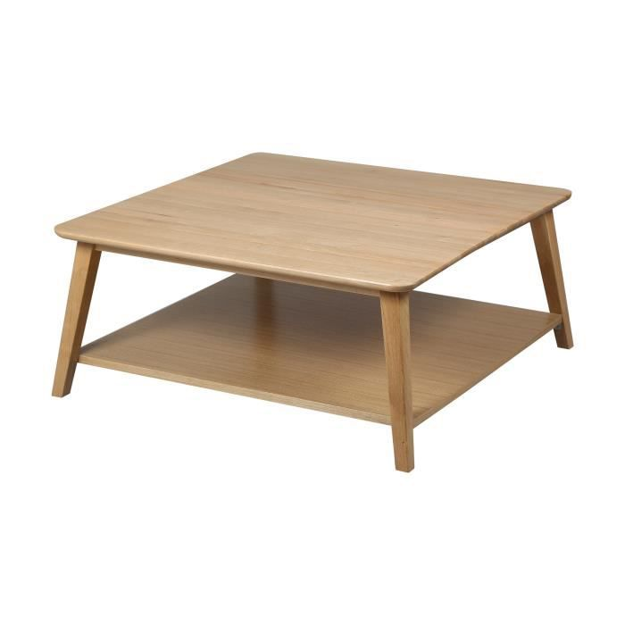 Table basse carr e en ch ne massif trendy achat vente table basse table b - Table basse carree chene massif ...