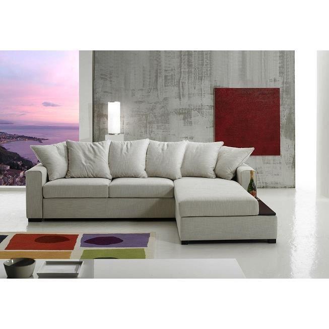 canap d angle parme 3p bicolore gris clair gr achat. Black Bedroom Furniture Sets. Home Design Ideas