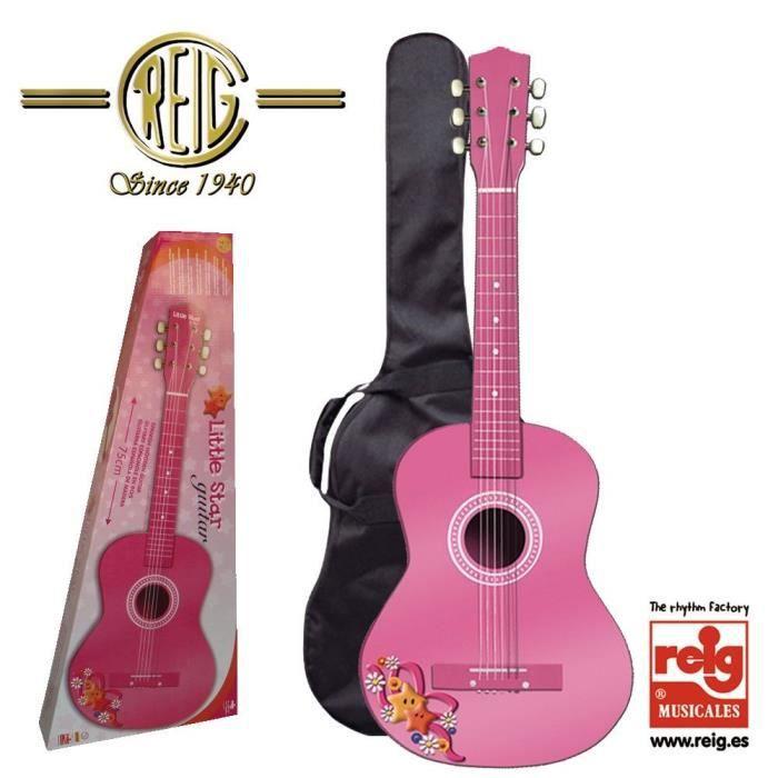 reig 7066 guitare en bois rose 75 cm achat. Black Bedroom Furniture Sets. Home Design Ideas