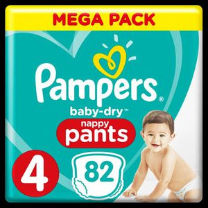 COUCHE Pampers Baby-Dry Pants Taille 4 8-14 kg - 82 Couch