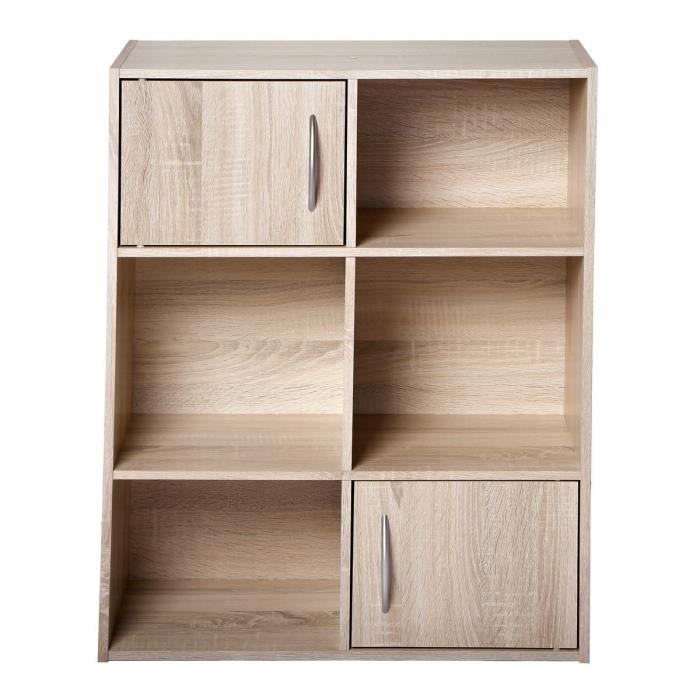 Compo meuble de rangement coloris ch ne l 62 cm achat for Petit meuble rangement