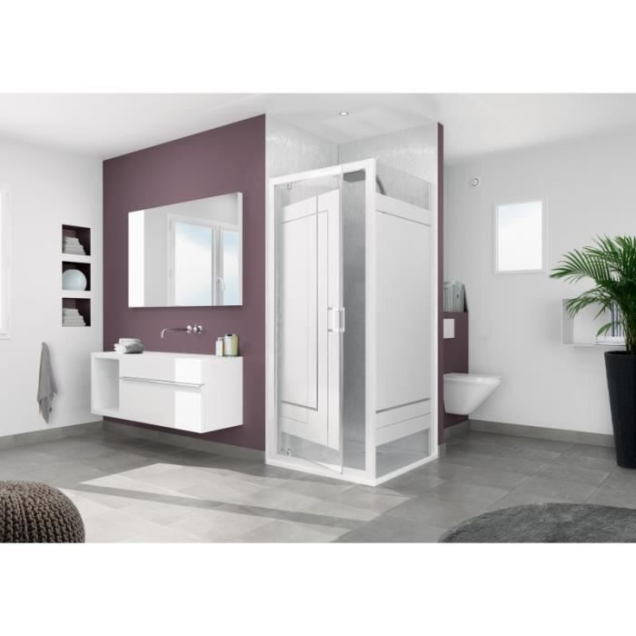 Smart fixe paroi pour montage avec les portes de la gamme for Montage paroi de douche