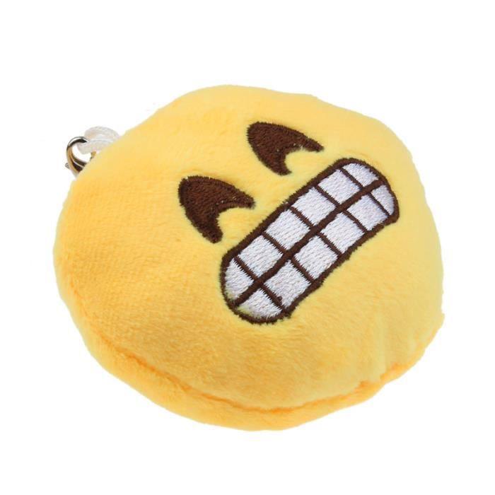 Yeux Coeur Emoji émoticônes Porte-clés Doux Jouet Cadeau