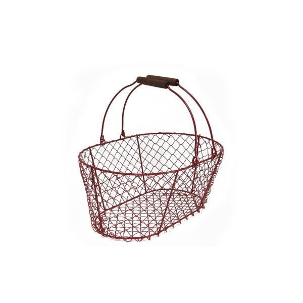 panier en m tal rouge achat vente coffret cadeau picerie panier en m tal rouge cadeaux de. Black Bedroom Furniture Sets. Home Design Ideas