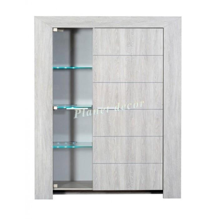 meuble 2 portes lathi 14 clairage led achat vente vitrine argentier meuble 2 portes. Black Bedroom Furniture Sets. Home Design Ideas