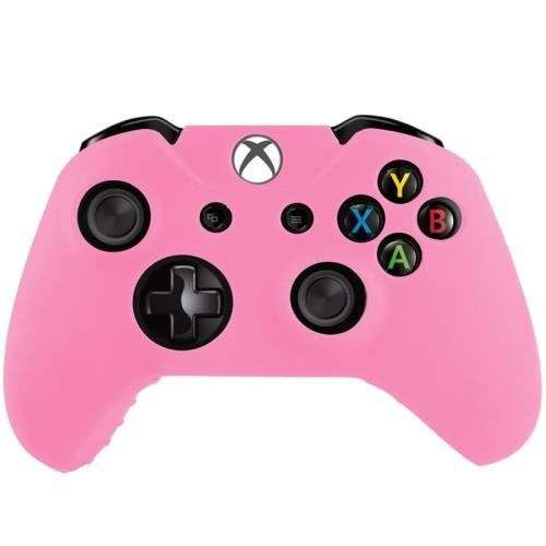 xbox one coque housse silicone manettes rose prix pas cher cdiscount. Black Bedroom Furniture Sets. Home Design Ideas