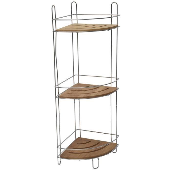 etag re d 39 angle en bambou et fil m tal sur 3 niveaux. Black Bedroom Furniture Sets. Home Design Ideas