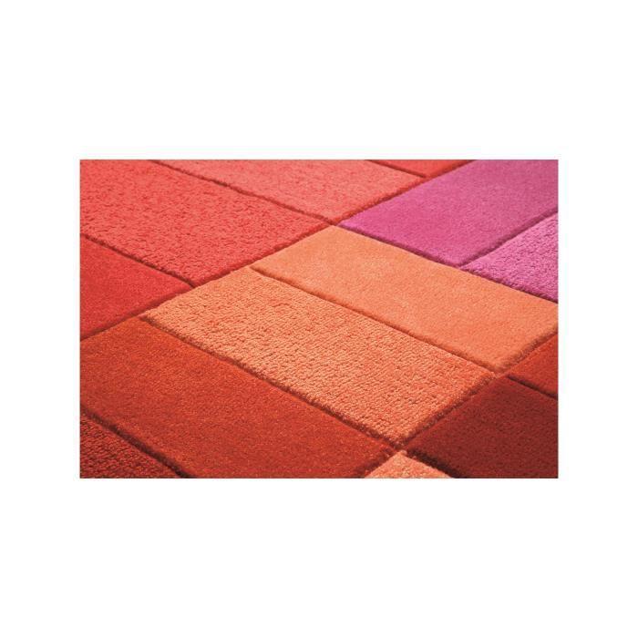 esprit tapis various box rouge 200x300 cm achat vente. Black Bedroom Furniture Sets. Home Design Ideas