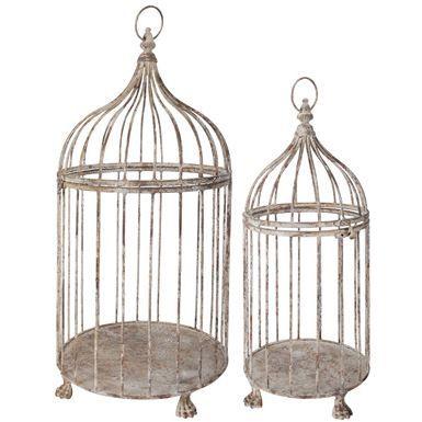 Cages a oiseaux deco par 2 achat vente voli re for Cage a oiseaux decorative
