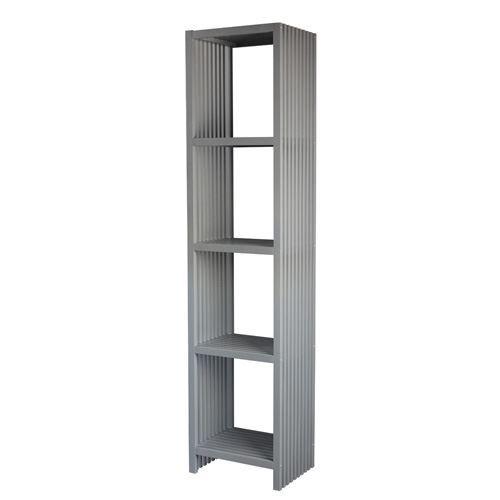 colonne de salle de bain 4 niveaux lux gris achat. Black Bedroom Furniture Sets. Home Design Ideas